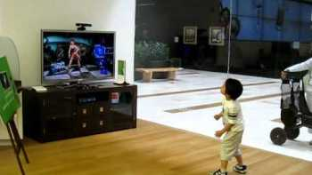 Little Boy Playing Dance Central On Hard