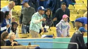 Dad Drops Daughter Trying To Catch Foul Ball At Dodgers Game