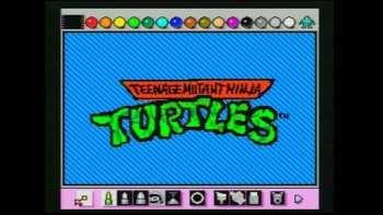 Teenage Mutant Ninja Turtles Intro Animated With Mario Paint