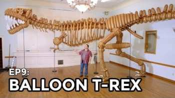 Life-Size Giant T-Rex Dinosaur Made Of Balloons