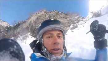 Skier Accidentally Drives Off Of A Cliff And Films The Whole Thing