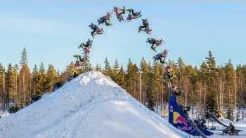 Daniel Bodin Lands Huge Double Backflip On A Snowmobile