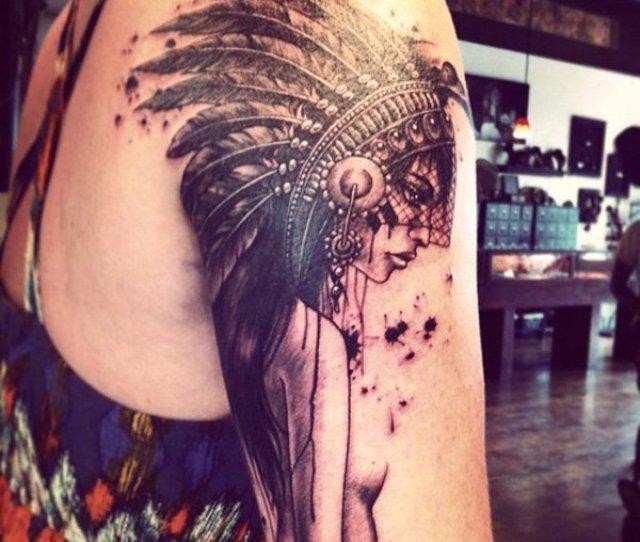 Native American Sleee Tattoo