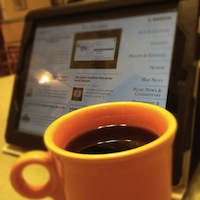 Zite with coffee