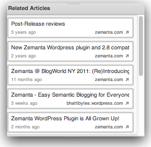 Zemanta Related Articles Suggesions