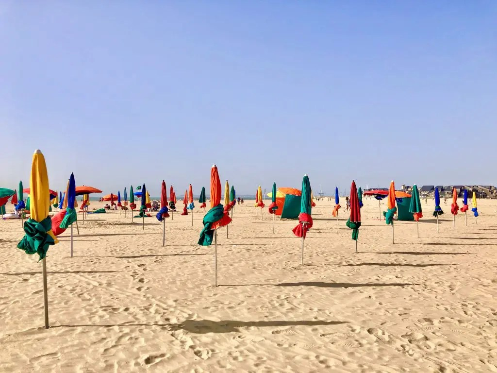 The parasols in Deauville, Normandy