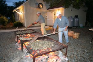 oyster pits at Chesapeake Academy