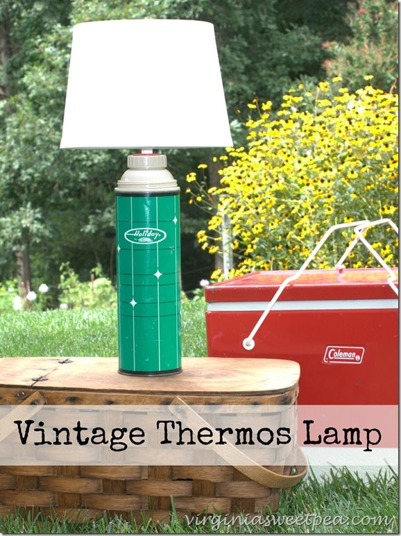 Upcycled Vintage Thermos Lamp by virginiasweetpea.com