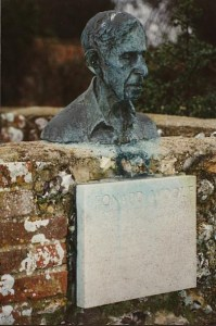 Bust of LW in Monk's House garden