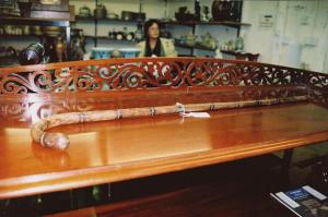 Virginia's walking stick at auction, 2002