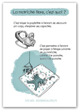 Affiche petite enfance Bougribouillons - Motricité libre 1