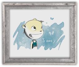Portrait dessin cadre cadeau anniversaire enfant