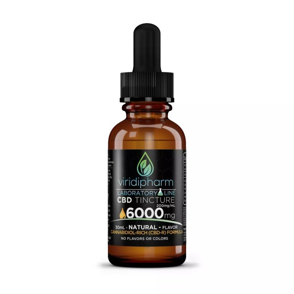 6000mg CBD Oil Tincture Natural Flavor Viridipharm