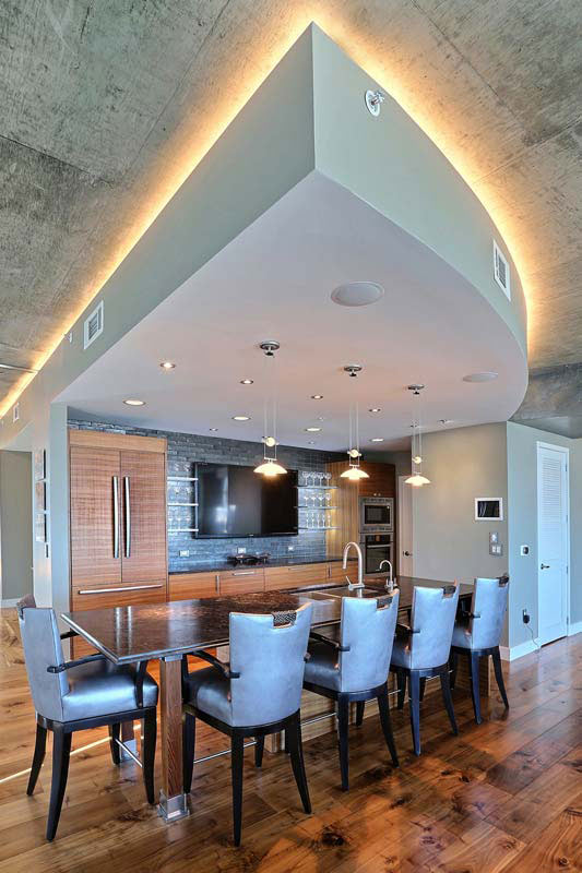 Penthouse Lounge Amp Bar Area Interior Designer Denver CO