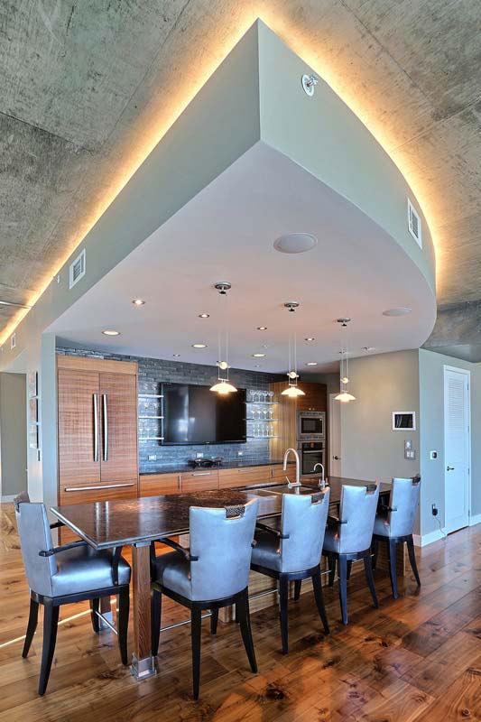 Penthouse Lounge Amp Bar Area Interior Designer Denver Co