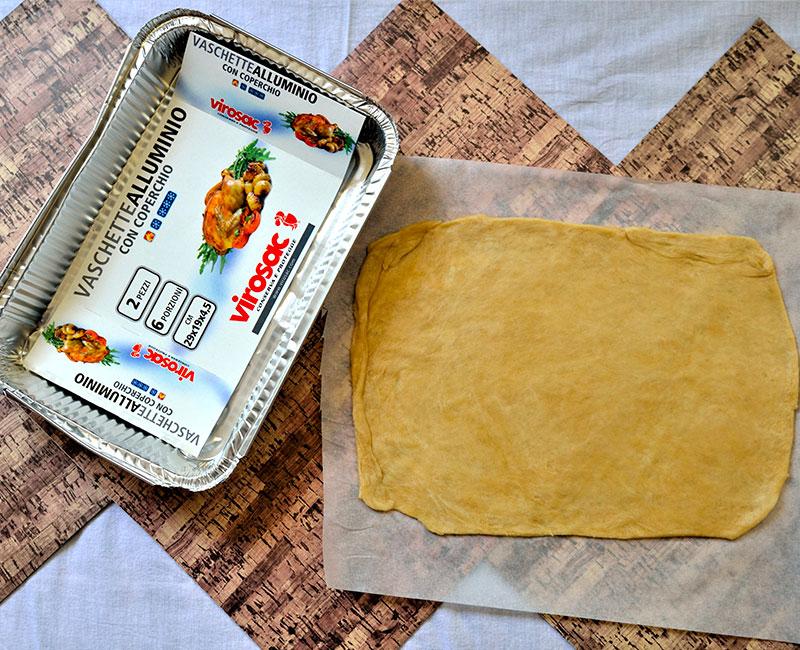 torta rustica al salmone con pasta fatta in casa ricetta ingredienti preparazione pasta stesa pronta