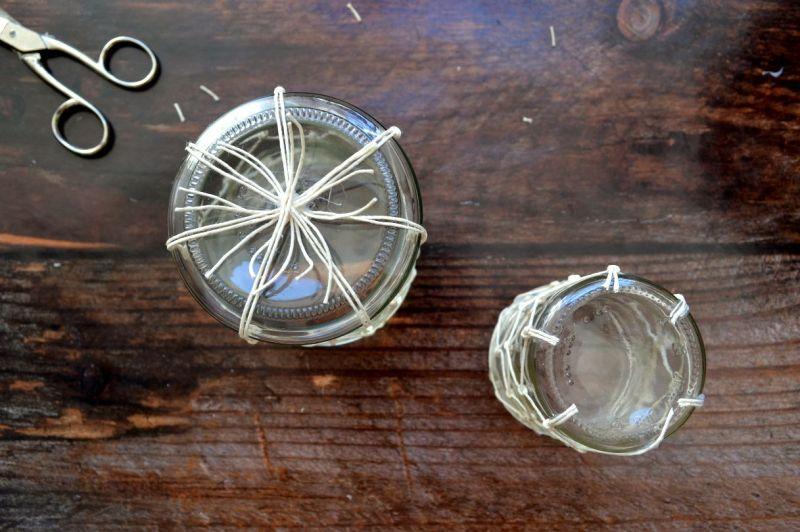 lanterne con boccali di vetro tutorial