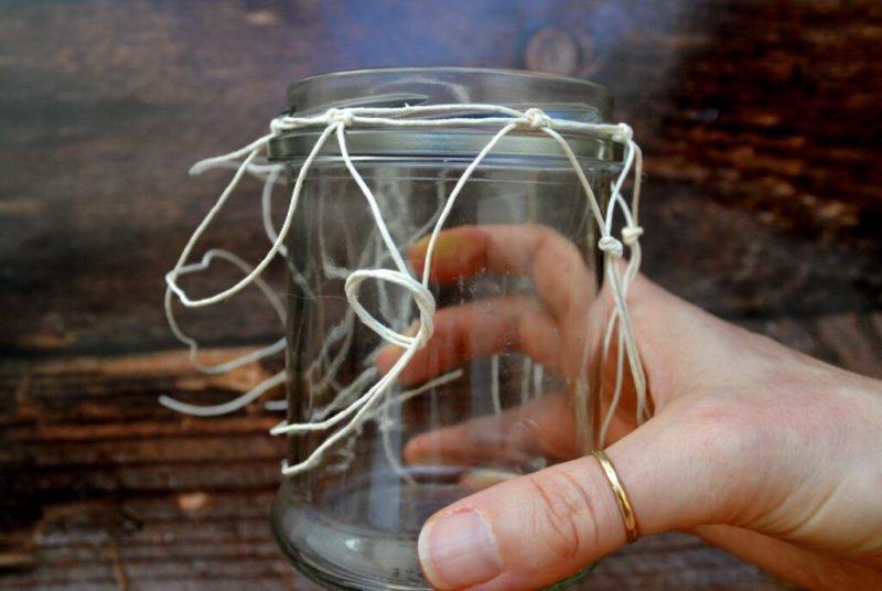 lanterne con boccali di vetro stile marino