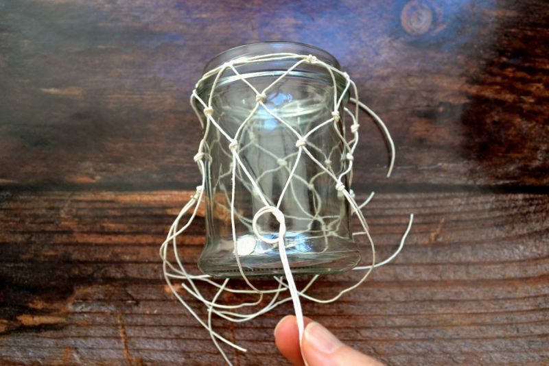 lanterne con boccali di vetro dettaglio