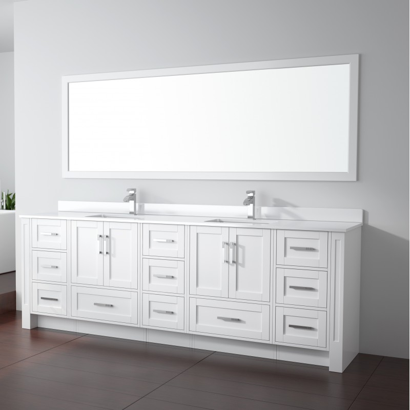 Flow Floor Mount 96 Double Sink Vanity Freestanding Bathroom Vanities Toronto Canada