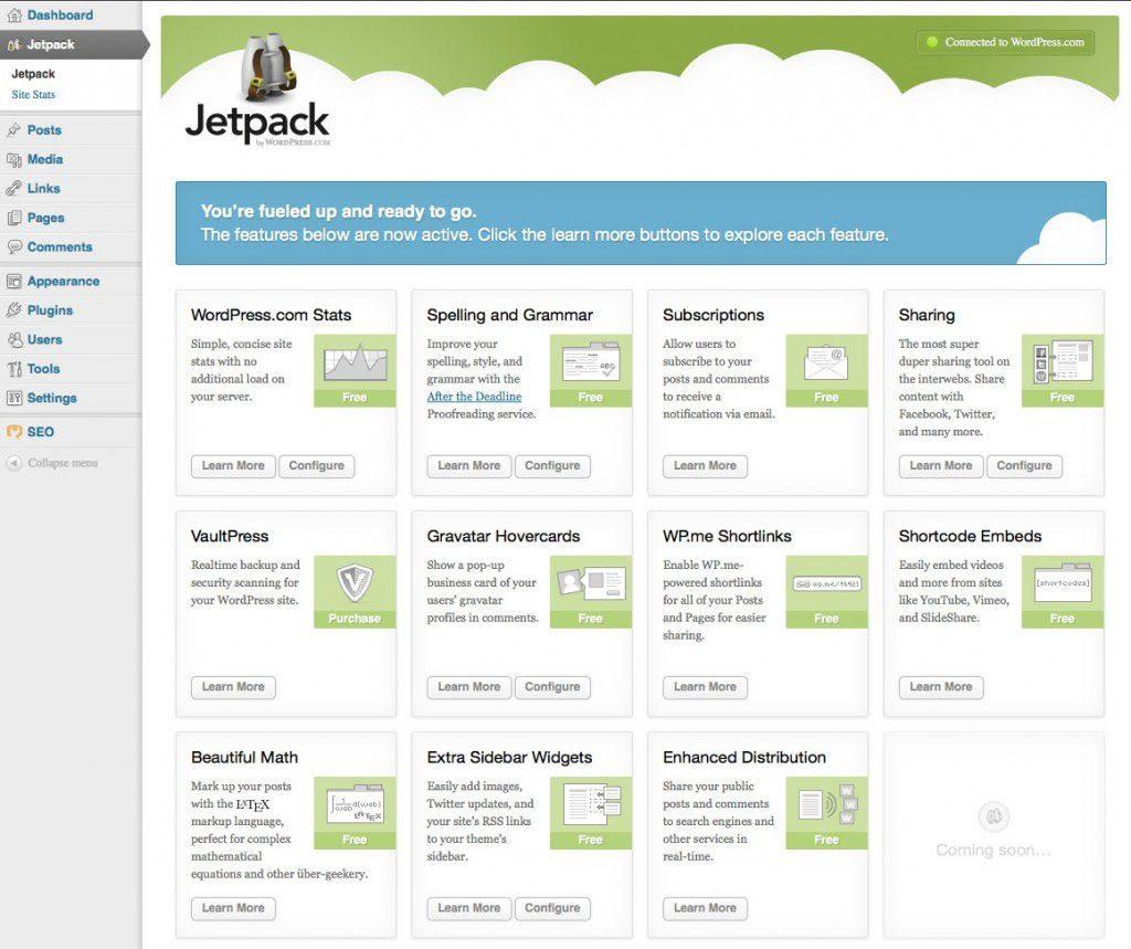 jetpack wordpress plugins