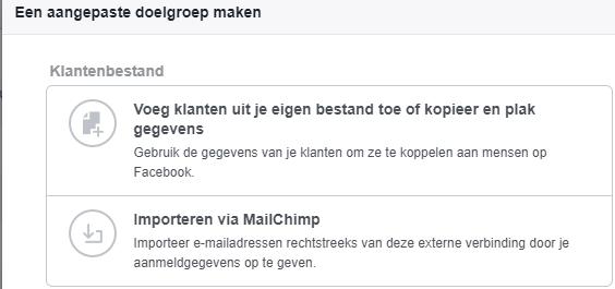 klantenbestand uploaden in facebook