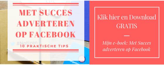 E-boek met succes adverteren op Facebook