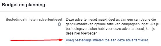 Budget en Planning in Facebook Ads