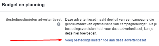 Budget en Planning in Facebook Ads