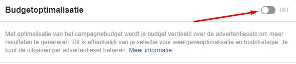budgetoptimalisatie Facebook advertenties