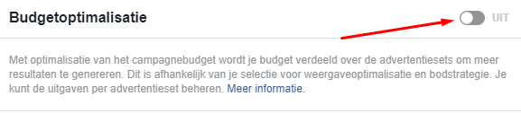 budgetoptimalisatie Facebook advertenties