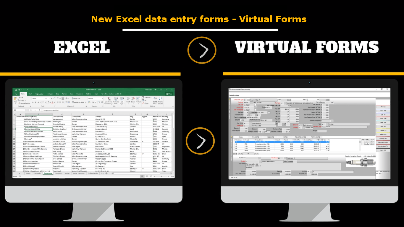 Getting Started With Virtual Forms New Excel Data Entry Form