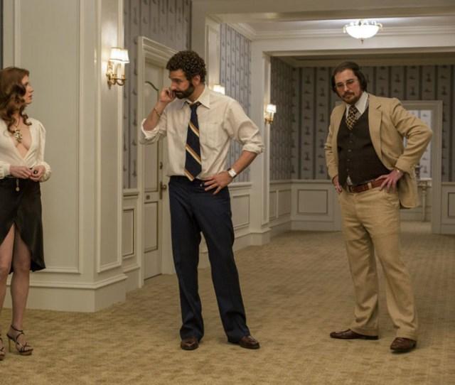 Amy Adams Bradley Cooper Christian Bale American Hustle