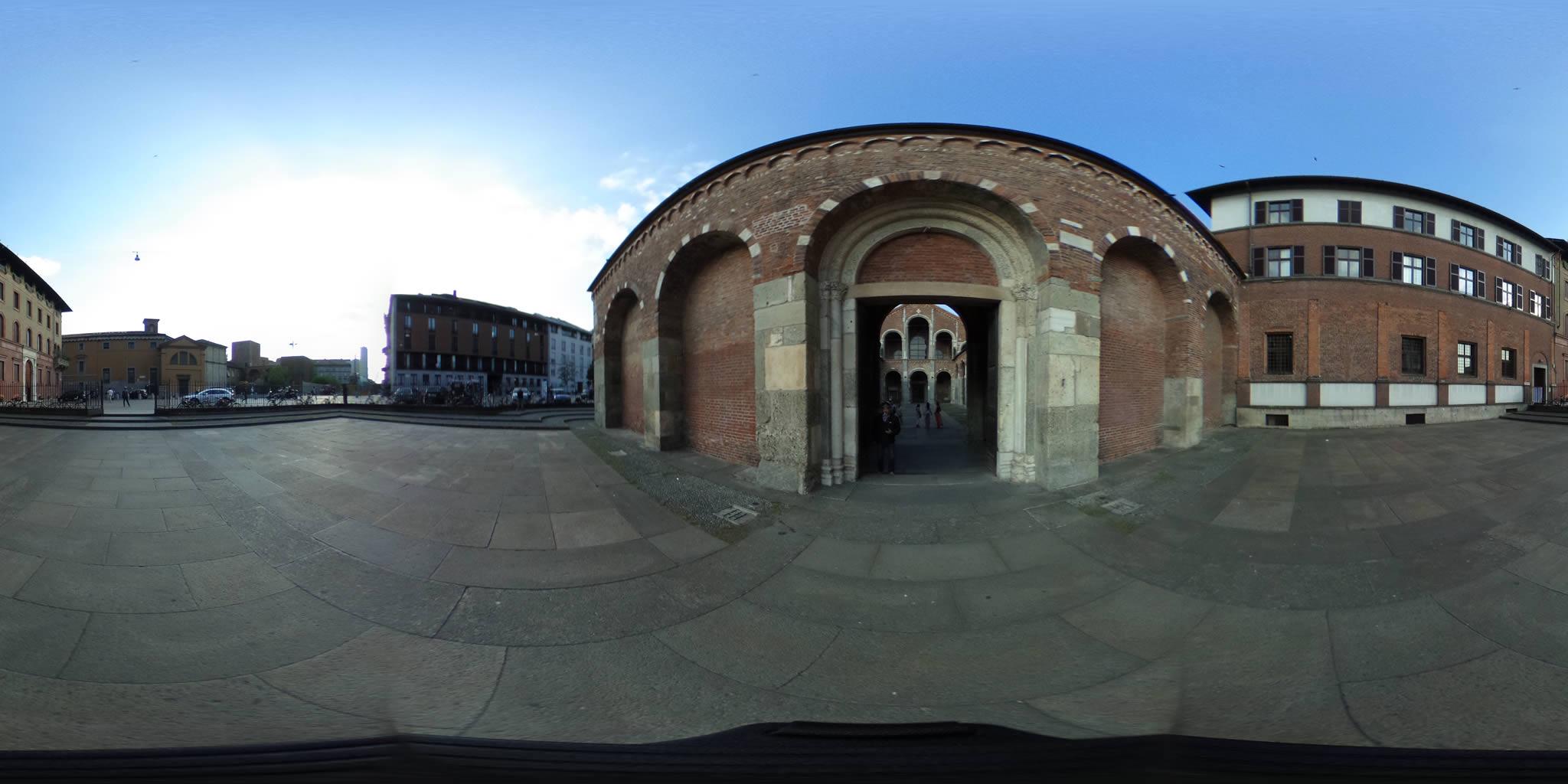 Basilica Sant.Ambrogio Milano foto panoramiche