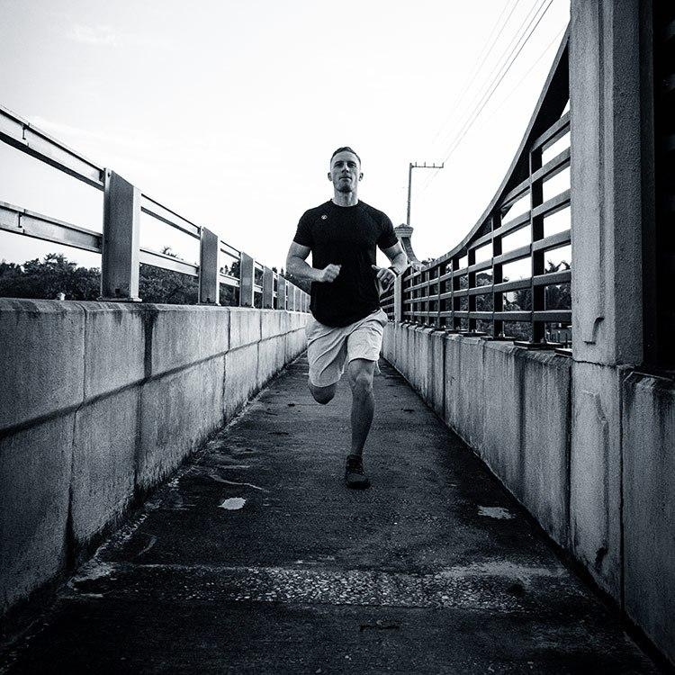 Domenic Celeste running