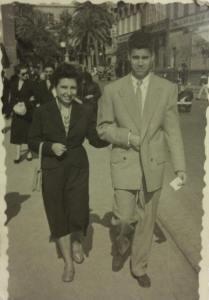 Mis padres: Ángeles Urién y Juan Arencibia, en una foto de los años 50.