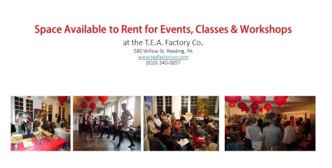 Space Available to Rent for Events, Classes