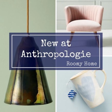 New at Anthropologie what's hot for autumn Roomy Home