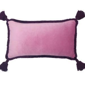 velvet tassel cushion wolf and badger