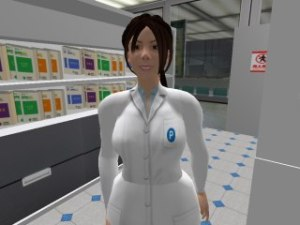 Xiaohong, our NPC avatar-chatbot pharmacist