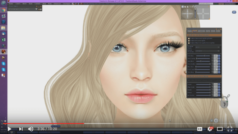 """Taking high resolution """"up close"""" portraits for Second Life"""