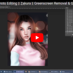 Second Life® Photo Editing: Green Screen Removal and General Editing Tutorial