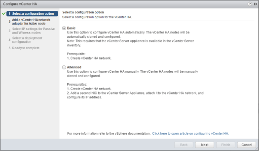 vcsa65n_ha01如何配置VMware VCSA 6.5 HA