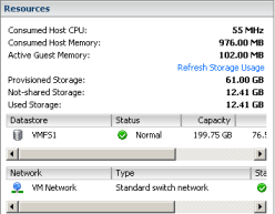 VMware ESX Virtual Machine After filling the disks & before deleting the data