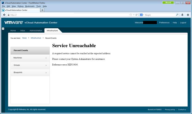 vCloud Automation Center 6 repo404 error