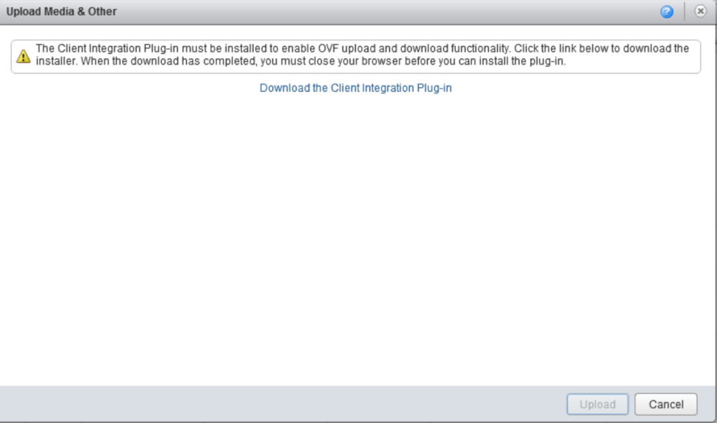 vCD Download the Client Integration Plug-in
