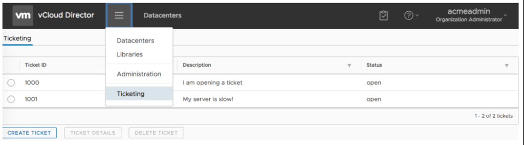 vCD 9.1 User Interface Extensibility