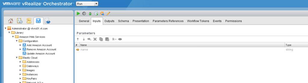 vRO workflow inputs