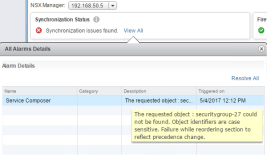 Fix NSX Synchronization issues with PowerNSX