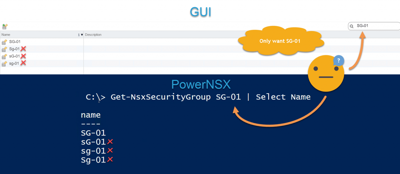 Why NSX Name Fields Should Be Case-Insensitive